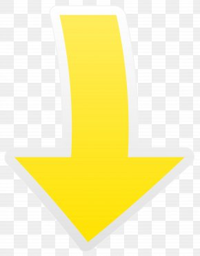 Yellow Arrow Down Transparent Clip Art Image - Yellow Font Design Pattern PNG