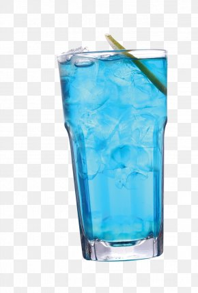 Drink - Blue Hawaii Sea Breeze Blue Lagoon Highball Non-alcoholic Drink PNG