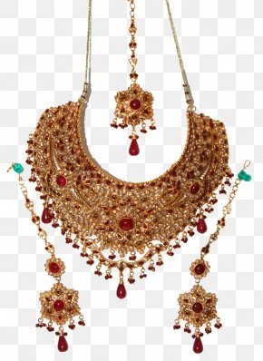 Indian Jewellery Pic - Earring Jewellery Gold Jewelry Design Necklace PNG