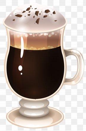 Coffee Latte Clipart Image - Latte Macchiato Coffee Cappuccino Tea PNG