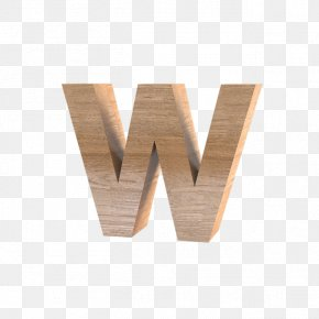 Wood W - All Caps Letter Icon PNG