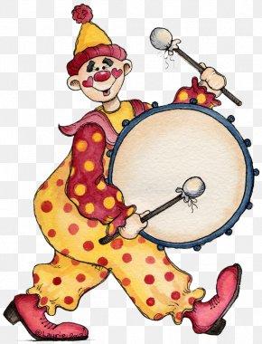Clown Drum - Circus Clown Acrobatics Clip Art PNG