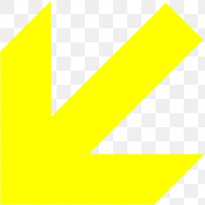 Yellow Arrow Label - Graphic Design Logo Triangle PNG