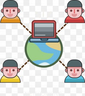 Internet Work Collaboration - Internet Clip Art PNG