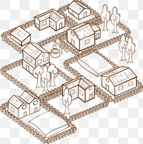 Religious Totem - Village Drawing Clip Art PNG
