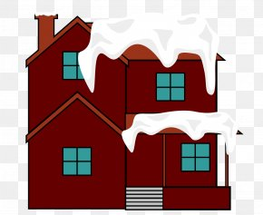 Vector Red House Snow Building Roof - Building Roof House PNG