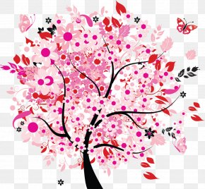 Cherry Blossom Watercolor - Spring Tree Flower Clip Art PNG