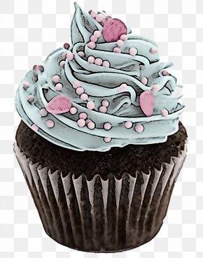Muffin Food - Cupcake Buttercream Icing Pink Cake PNG