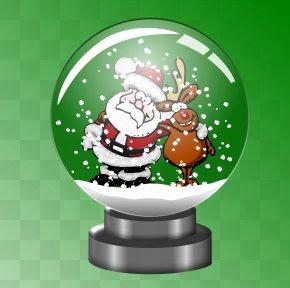 Snow Santa Cliparts - Rudolph Santa Claus Snow Globes Snowman Clip Art PNG