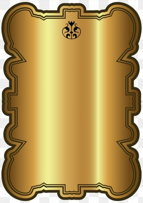 Gold Luxury Label Template Clipart Image - Label Clip Art PNG