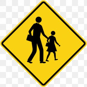School - School Zone Warning Sign Traffic Sign Stock Photography PNG