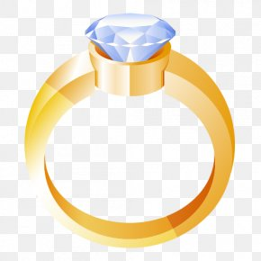 Gold Ring Jewelry Accessories - Wedding Ring Gold Clip Art PNG
