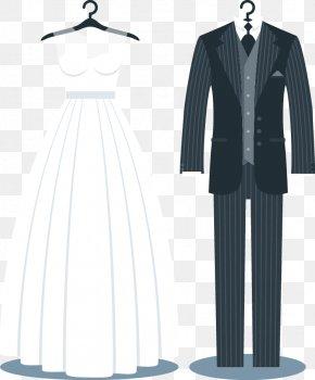 Wedding Suits - Tuxedo Wedding Invitation Suit Wedding Dress PNG