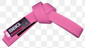 T-shirt - T-shirt Pink Black Belt Brazilian Jiu-jitsu PNG