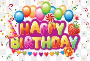 Happy Birthday - Birthday Cake Wish Greeting Card Letter PNG