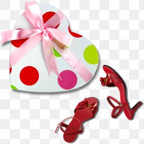 Gift Boxes And High Heels Elements - High-heeled Footwear Shoe PNG