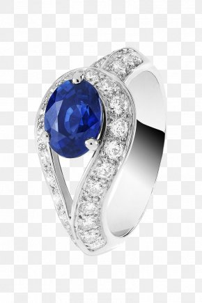Product Physical Single Sapphire Diamond Pieces Surround Ring - Van Cleef & Arpels Ring Solitaire Jewellery Sapphire PNG