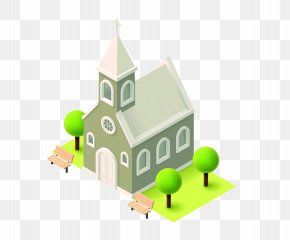 Church - Church Isometric Projection Royalty-free Illustration PNG