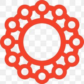 Red Circle Pattern - Symbol Sacred Geometry Icon PNG