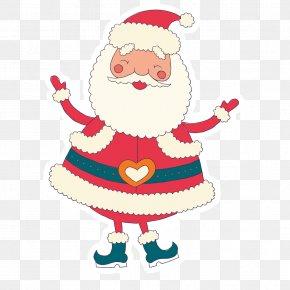Retro Style Santa Claus Vector - Santa Claus Christmas Ornament Clip Art PNG