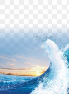 Sea Blue - Light Sea Sunset Wind Wave PNG