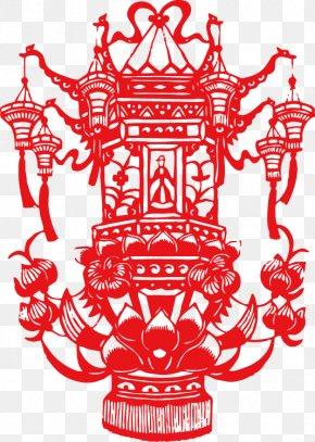 Chinese New Year Lantern Lantern - Papercutting Lantern Festival Chinese New Year Mid-Autumn Festival PNG