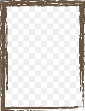Brown Border Frame Image - Picture Frame Clip Art PNG