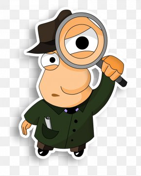Magnifying Glass - Detective Magnifying Glass Private Investigator Clip Art PNG