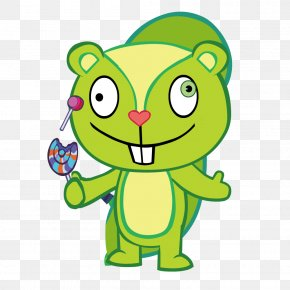 Green Little Squirrel Holding A Lollipop - Lollipop Candy PNG