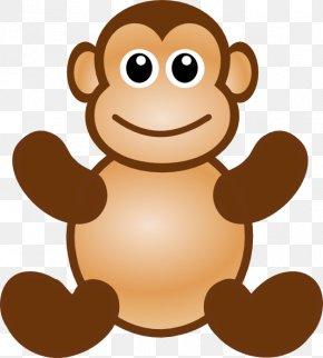 Monkey Face Clipart - Ape Macaque Monkey Cartoon Clip Art PNG