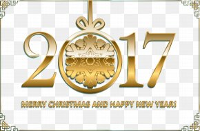 Antique Gold Frame Banner New Year's Eve 2017 - Download Computer File PNG