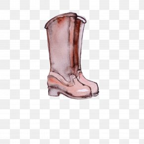 Cowboy Boot Riding Boot - Footwear Boot Shoe Pink Rain Boot PNG
