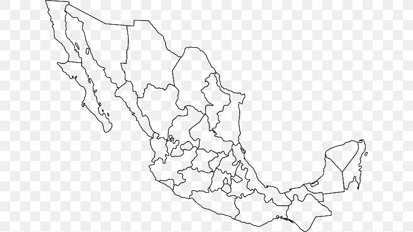 United States Blank Map Administrative Divisions Of Mexico ...