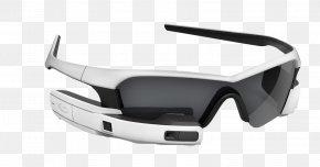Black Bluetooth Glasses - Google Glass Recon Instruments Head-up Display Smartglasses PNG