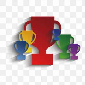 Creative Colour Trophy - Paper Trophy Clip Art PNG