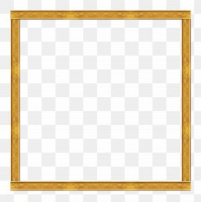 Gold Frame - Picture Frame Yellow Download PNG