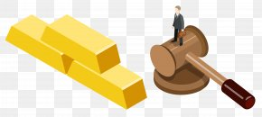 Standing On A Hammer - Judge Gavel Hammer Court PNG