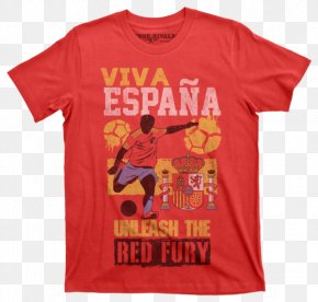 Spain Soccer - T-shirt Sleeve Clothing Crew Neck PNG