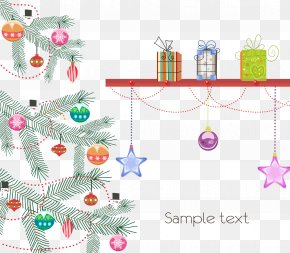 Christmas Gift Decoration Pictures - Christmas Tree Santa Claus Reindeer Christmas Ornament PNG