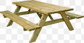 Table Image - Picnic Table Bench Garden Furniture PNG