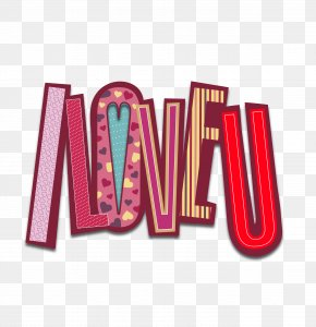 I Love You - Typeface Clip Art PNG