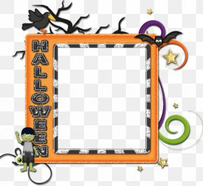 Ghost And Goblins - Picture Frames Scrapbooking Halloween Clip Art PNG