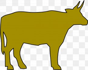 Cow's Milk From 45 Degrees With The Township - Beef Cattle Calf Ox Clip Art PNG