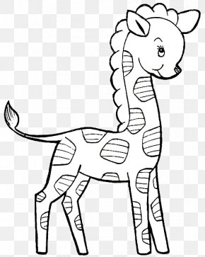 Child - Drawing Image Coloring Book Northern Giraffe Child PNG
