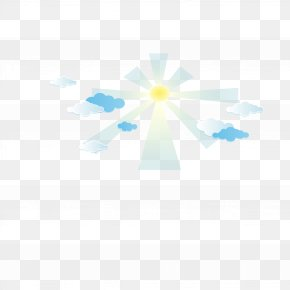 Vector Sun Rays - Blue Sky Pattern PNG