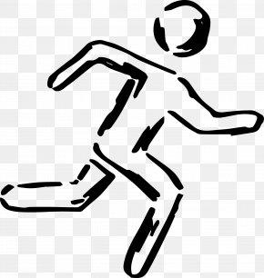Escaping Man - Shoe White Human Behavior Line Art Clip Art PNG
