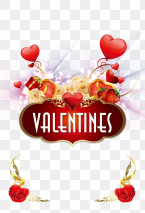 Valentine's Day Poster Background Material Psd - Valentines Day Poster PNG
