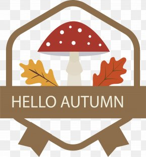 Hexagon Hello Autumn Label - Hexagon Euclidean Vector PNG