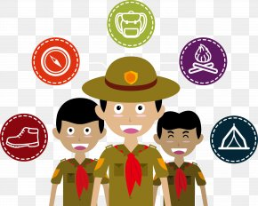 Vector Illustration Boy Scouts - Scouting Euclidean Vector Illustration PNG