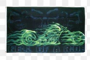 Skull Bikers - Flag Jolly Roger Skull Calavera Fahne PNG